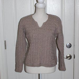 Aran Crafts Cable Knit Fishermans Sweater